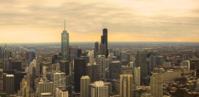 Chicago Skyline and Suburbs