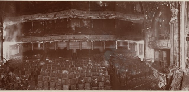 The Iroquois Theater after the fire.