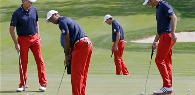The American Ryder Cup team prepares for the weekend competition at Medinah.