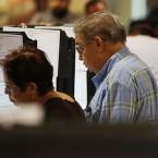 polls vote cast ballot