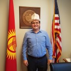 Kairat Mavlyankulov is a member of Chicago's Kyrgyz community and a board member of the local community center.