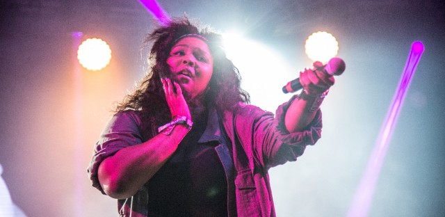 Lizzo performs at the Bonnaroo Music and Arts Festival on June 9, 2016, in Manchester, Tenn. (Photo by Amy Harris/Invision/AP)