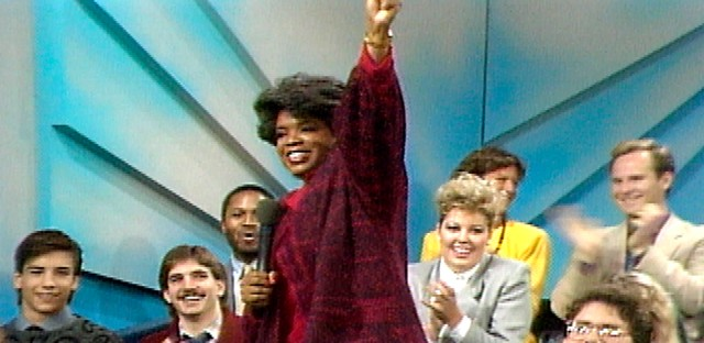 The first nationally televised episode of The Oprah Winfrey Show.
