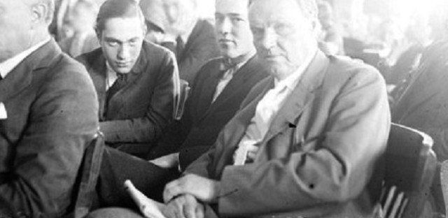 Leopold, Loeb, and Darrow in court
