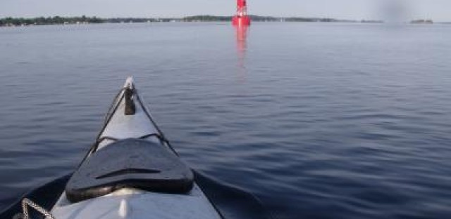 Kayaking along the St. Lawrence Seaway