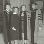Hillary Clinton (second from left) during her 1969 commencement at Wellesley College.