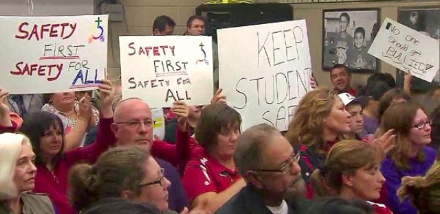 People packed into an East Aurora school board meeting Friday to weigh in on the controversial transgender policy.