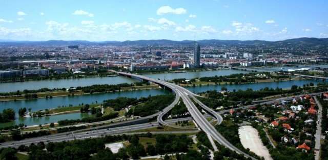 Vienna from the Danube Tower