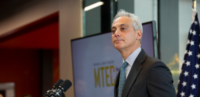 Aldermen who worked with outgoing Mayor Rahm Emanuel, shown here 2018, are reflecting on the things that could shape his legacy — the biggest accomplishments, the biggest blunders and the relationships built with them.