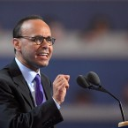 In this July 25, 2016 file photo, Rep. Luis Gutierrez, D-Ill. during the first day of the Democratic National Convention in Philadelphia. Gutierrez will announce he is retiring and won't seek re-election next year. (AP Photo/Mark J. Terrill)