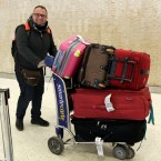 Munther Alaskry arrives at New York's JFK International Airport