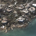 The destruction wrought by Hurricane Irma on the U.S. Virgin Islands, as seen from the air on Friday.