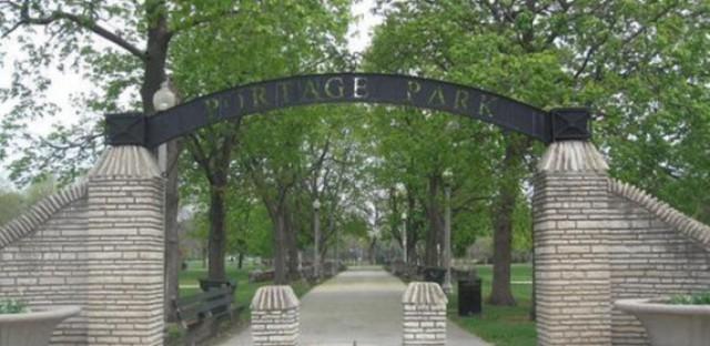 Portage Park the park in Portage Park the community