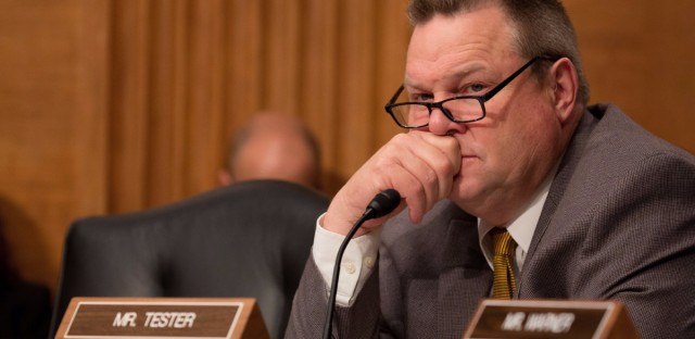 Democratic Sen. Jon Tester of Montana could be a key vote if Republicans fail to pass a health care bill and are forced to work with the minority party. (Tasos Katopodis/Getty Images)