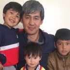 Hussein Mahrammi with his wife and four young sons arrived at at Dulles International Airport in Virginia earlier this month with Special Immigrant Visas for the work Mahrammi had helped the U.S. with in Afghanistan.