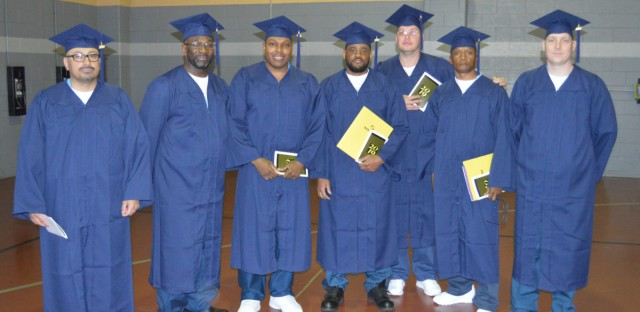 On Wednesday, seven inmates received bachelor's degrees through a free program at Stateville Correctional Center, a southwest suburban prison.