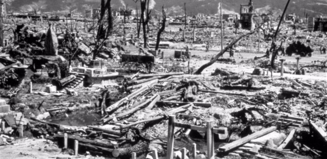 This Aug. 6, 1945 file photo, shows the destruction from the explosion of an atomic bomb in Hiroshima, Japan.