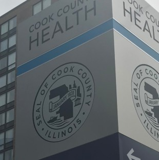Cook County Health Sign