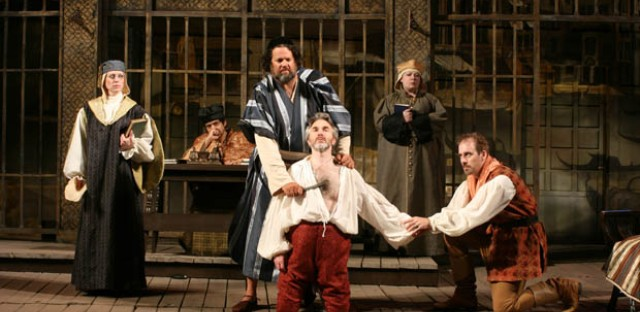 The cast of 'Merchant of Venice' doubles as the cast for 'Shylock and his Daughter.'