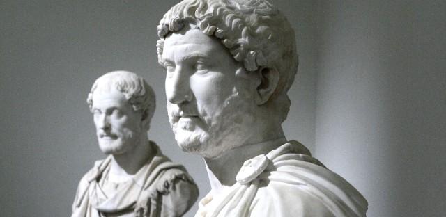A bust of Roman Emperor Hadrian (117-138).