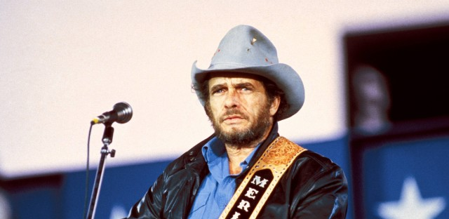 Merle Haggard, shown performing in 1985, was a country music fixture for 50 years. He died Wednesday, on his 79th birthday.
