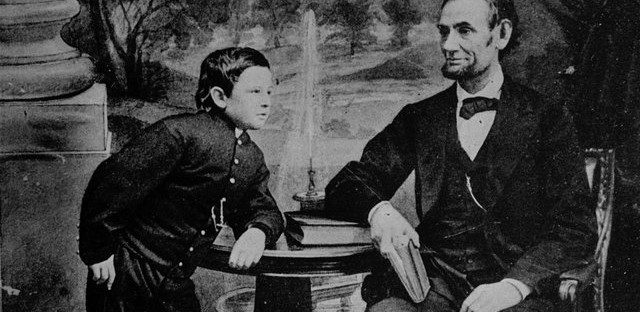 Abraham Lincoln Poses with son Tad