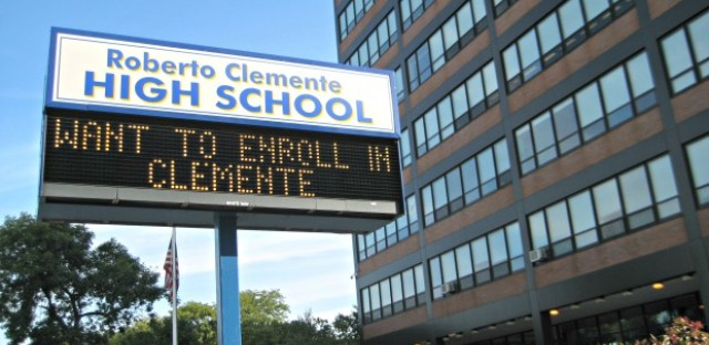 Enrollment at Clemente High School is just 700. The school was expecting 830 students. The district has decided not to cut budgets at 308 schools that didn't attract enough students this year.