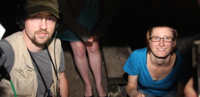 WBEZ reporter Alex Keefe and Curious City asker Katie Conrad explore the Arcada Theatre's basement.