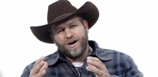 Ammon Bundy, shown during an interview at Malheur National Wildlife Refuge, has been acquitted, along with six other people, of charges linked to the armed occupation of the refuge near Burns, Ore.