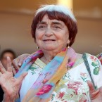 """In this May 19, 2017 file photo, filmmaker Agnes Varda appears at the screening of the film """"Visages, Villages,"""" at the 70th international film festival, Cannes, southern France. Filmmaker Agnes Varda, a central figure of the French New Wave who later won the Golden Lion at the Venice Film Festival, has died. She was 90."""