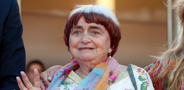 "In this May 19, 2017 file photo, filmmaker Agnes Varda appears at the screening of the film ""Visages, Villages,"" at the 70th international film festival, Cannes, southern France. Filmmaker Agnes Varda, a central figure of the French New Wave who later won the Golden Lion at the Venice Film Festival, has died. She was 90."