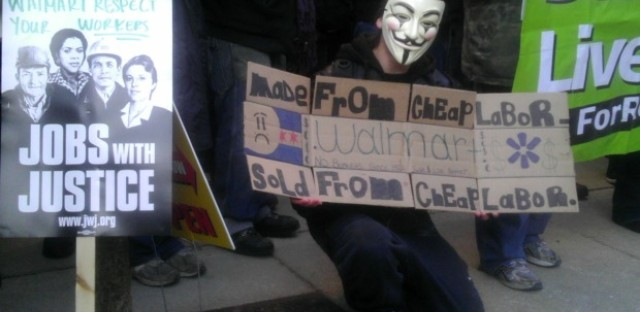 Walmart protesters press for better pay