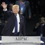 During his campaign for president in March, Donald Trump spoke at the 2016 American Israel Public Affairs Committee Policy Conference in Washington, D.C.