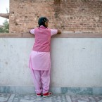 """Nimmu, 15, on the terrace of the Veerni Institute. To stay in school, she needs to pass a national test this March. The problem: """"I'm not a great student,"""" she says. Because child marriage is illegal in India, we can't use her full name."""