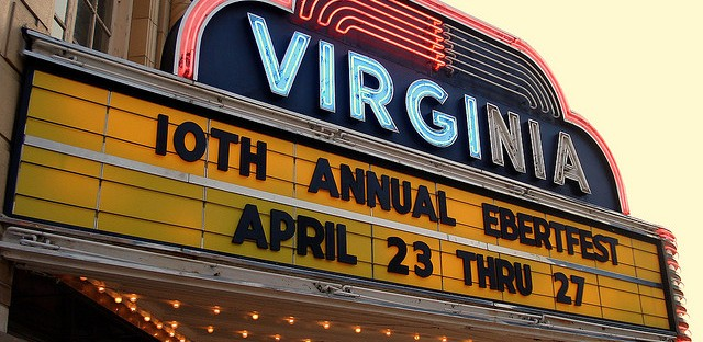 File: The Virginia Theatre in Champaign, Illinois. A sold-out crowd will gather in Wednesday night for the 15th annual Ebertfest.
