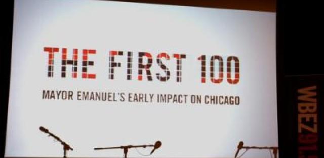 Wednesday night was WBEZ's 'First 100' forum.
