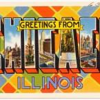 postcard chicago