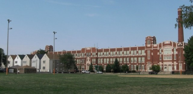 Kelly High School, as seen from Kelly Park