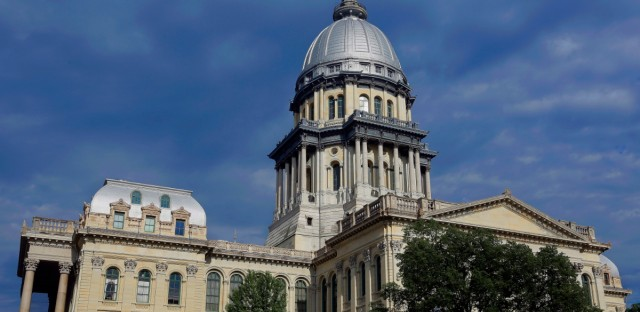 The Illinois State Capitol is shown on Tuesday, May 31, 2016. A bill approved by the Senate on Wednesday would expand an existing 1% tax on restaurants in Chicago's Loop and near North Side to pay for a major new construction project at McCormick Place, Chicago's convention center.