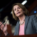 Nancy Pelosi, D-Calif., won re-election as House minority leader on Wednesday with support from just over two-thirds of her caucus.