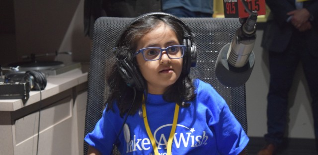 """Five-year-old Azka recorded her first podcast episode, """"The Stealer of the Diamonds,"""" at WBEZ on April 10."""