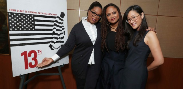 Oprah Winfrey, Ava DuVernay and Netflix VP of Original Documentary Lisa Nishimura