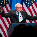 Democratic presidential candidate Sen. Bernie Sanders, I-Vt., speaks at George Washington University in Washington, Wednesday, June 12, 2019, on his policy of democratic socialism, the economic philosophy that has guided his political career.