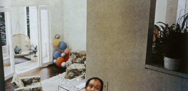 """<em>Balloons</em> is a part of Martha Rosler's """"House Beautiful: Bringing the War Home"""" series."""