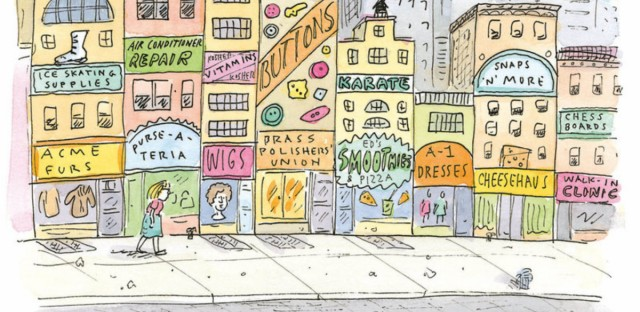 """Cartoonist Roz Chast says she is inspired by the activity and commotion of New York City: """"Everything seems to suggest stories."""""""