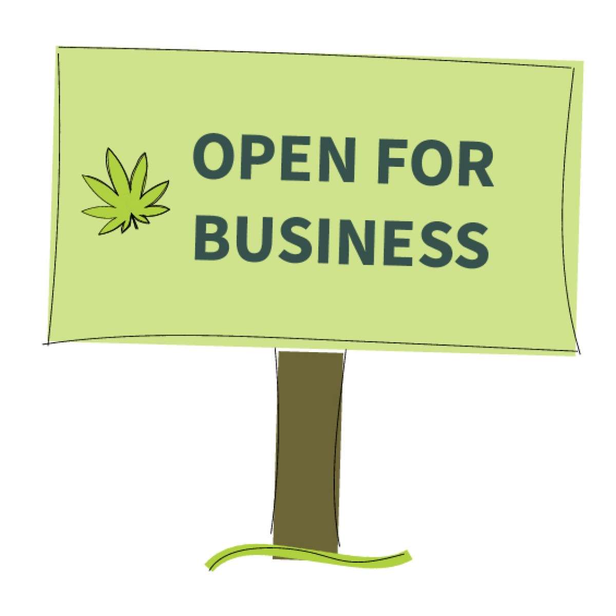 Open for pot business