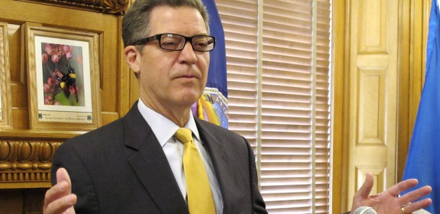 Kansas Gov. Sam Brownback, seen here at a news conference last month, is being nominated by President Trump to be an ambassador for religious freedom.
