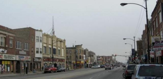 North Avenue commercial strip