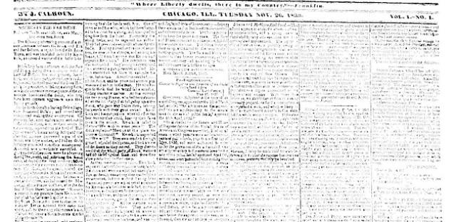 Chicago's first newspaper