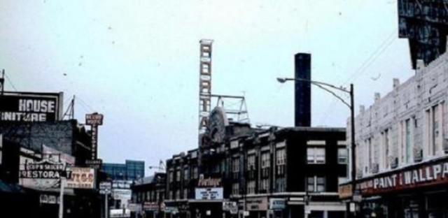 Milwaukee Avenue near Six Corners, 1976